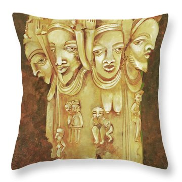 Nigeria Throw Pillow