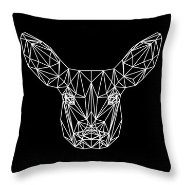 Night Bambi Throw Pillow