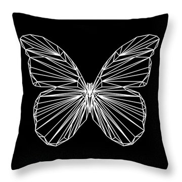 Night Batterfly Throw Pillow