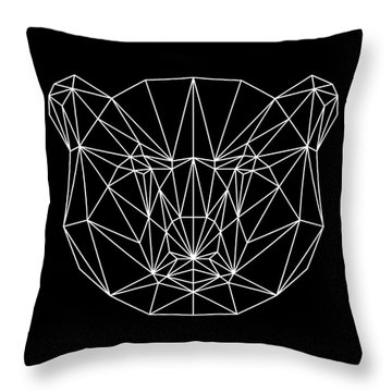 Night Bear Throw Pillow