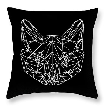 Night Cat Throw Pillow