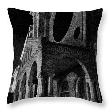 Night Church Throw Pillow