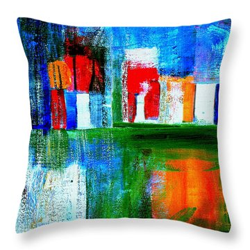 Night In The City N Y C Throw Pillow