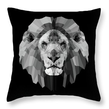 Night Lion Throw Pillow