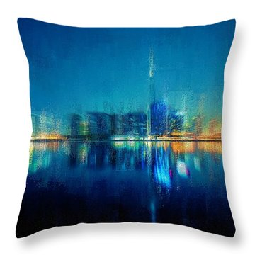 Night Of The City Throw Pillow