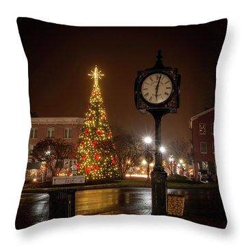 Night On The Square Throw Pillow