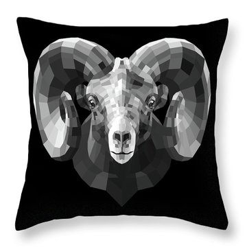 Night Ram Throw Pillow