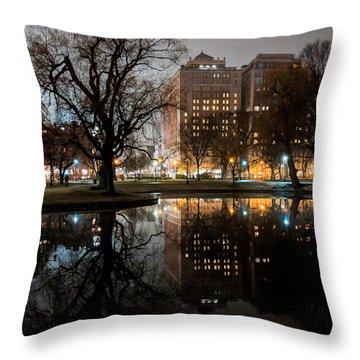 Night Reflection Throw Pillow