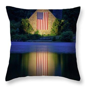 Nightfall At The Old Stone Church Throw Pillow