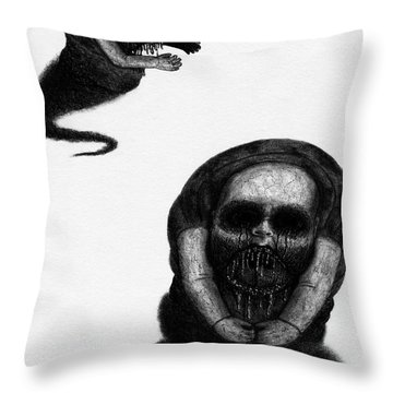 Nightmare Chewer - Artwork Throw Pillow