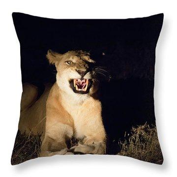 Nightmare Lioness Throw Pillow