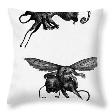 Nightmare Stinger - Artwork Throw Pillow
