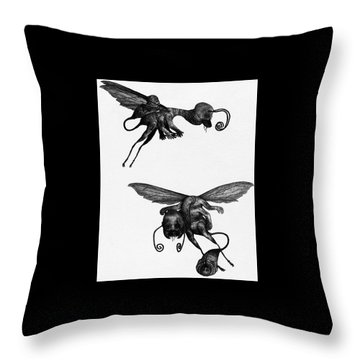 Nightmare Stinger - Artwork Throw Pillow