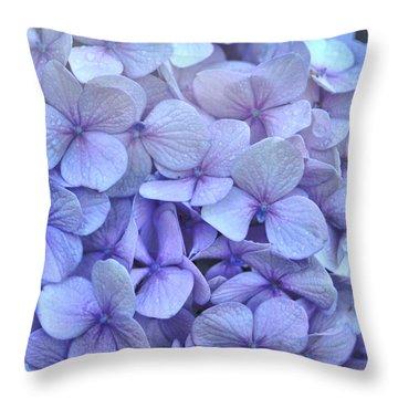 Nikko Blue Petals Throw Pillow