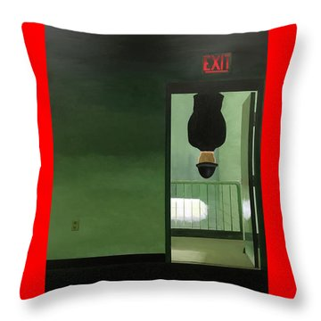 No Exit Throw Pillow