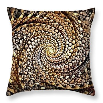 Throw Pillow featuring the digital art No Rock Like Our God by Missy Gainer