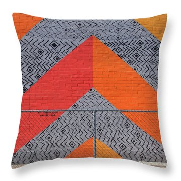 Throw Pillow featuring the photograph No Trespassing by Skip Hunt