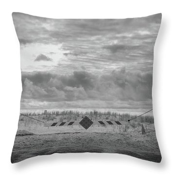 Throw Pillow featuring the photograph No Vehicles by Steve Stanger