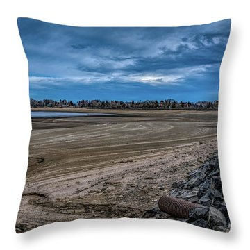 Throw Pillow featuring the photograph No Water Under The Bridge by Jon Burch Photography