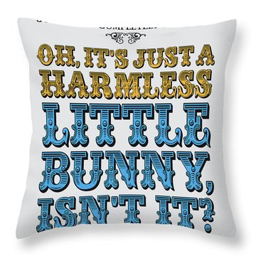 No08 My Silly Quote Poster Throw Pillow