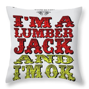 No10 My Silly Quote Poster Throw Pillow
