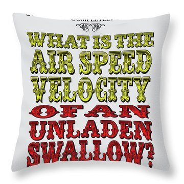 No14 My Silly Quote Poster Throw Pillow