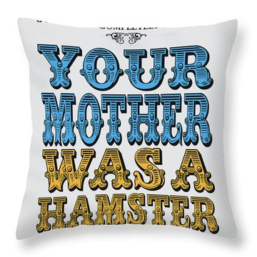 No15 My Silly Quote Poster Throw Pillow