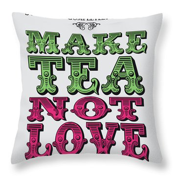 No16 My Silly Quote Poster Throw Pillow