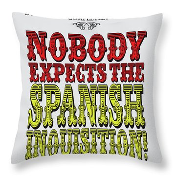 No17 My Silly Quote Poster Throw Pillow