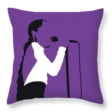 No211 My Sade Minimal Music Poster Throw Pillow