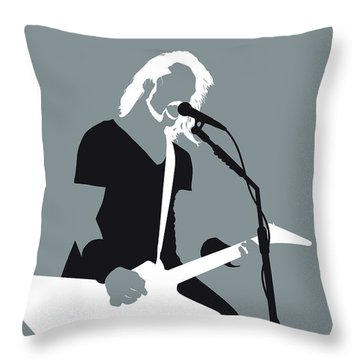 No257 My Metallica Minimal Music Poster Throw Pillow