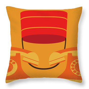 No977 My The Bellboy Minimal Movie Poster Throw Pillow
