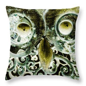 Nocturnal Night Owl Throw Pillow