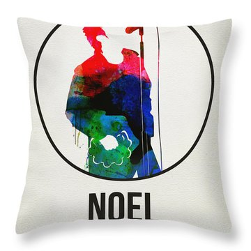 Noel Gallagher Watercolor Throw Pillow