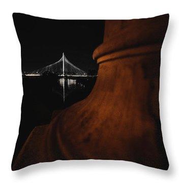 Noir Dallas Throw Pillow