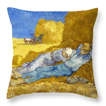 Noon-rest From Work - Digital Remastered Edition Throw Pillow