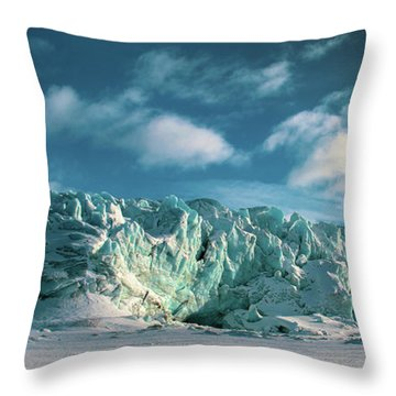 Nordenskioldbreen Throw Pillow