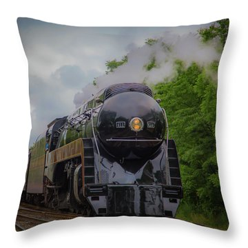 Norfolk And Western 611 Throw Pillow