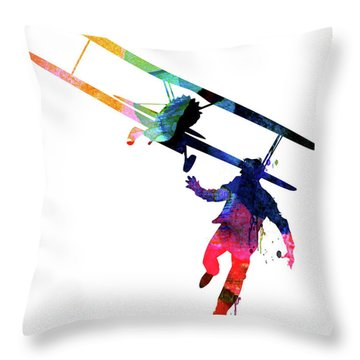 North By Northwest Watercolor Throw Pillow