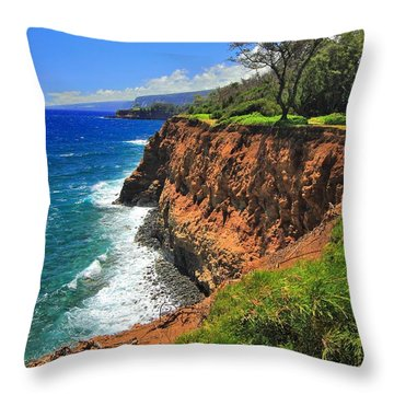 North Hawaii View Throw Pillow
