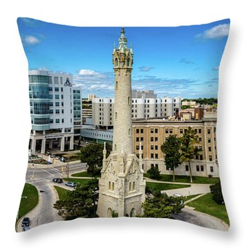 Throw Pillow featuring the photograph North Point Tower by Randy Scherkenbach