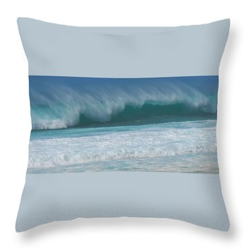 North Shore Surf's Up Throw Pillow