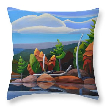 Northern Island II Throw Pillow