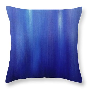 Northern Lights Oilpainting Throw Pillow