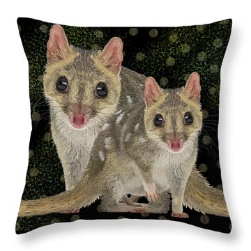 Northern Quoll 3 Throw Pillow