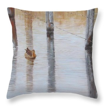 Northern Shovellers Throw Pillow