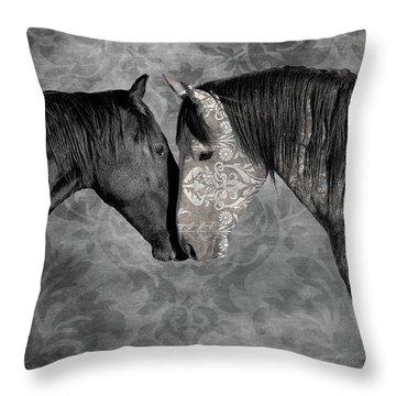 Not Always Black And White Throw Pillow