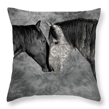Not Always Black And White Throw Pillow