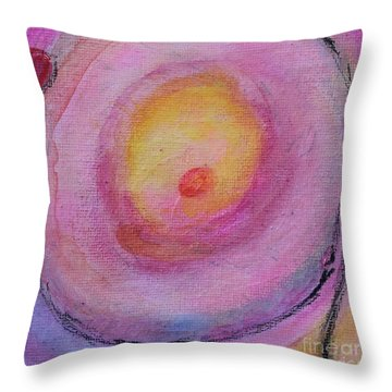 Throw Pillow featuring the painting Not Botched by Kim Nelson
