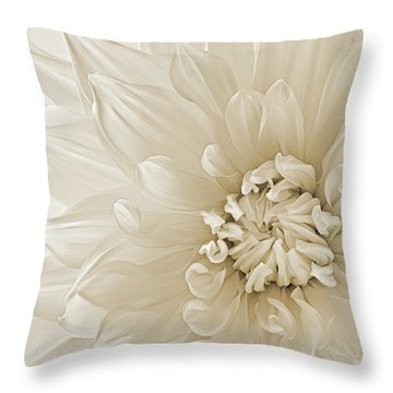Throw Pillow featuring the photograph Not Quite White by Mary Jo Allen